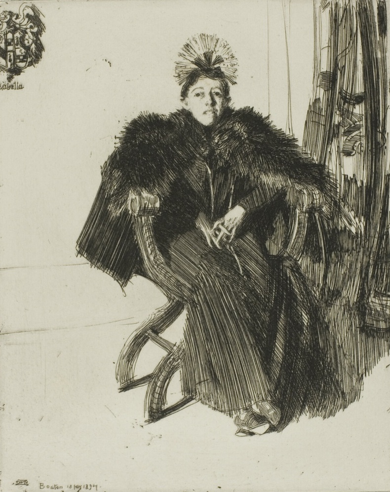 Isabella Gardener, 1894, etching on paper. The Art Institute of Chicago