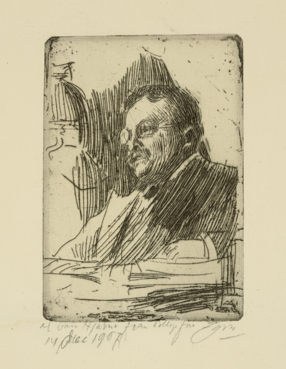 Theodore Roosevelt, 1905, etching on paper. The Art Institute of Chicago